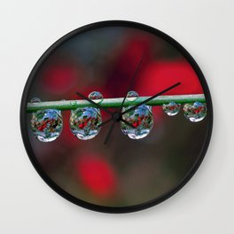 String of hearts Wall Clock