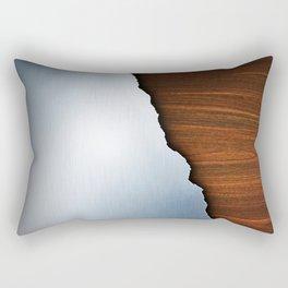 Wooden Brushed Metal Rectangular Pillow