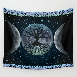 Esoteric Tripple Moon Wall Tapestry