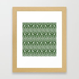 Cairn Terrier dog breed pet pattern fair isle christmas sweater cute holiday dog lover Framed Art Print