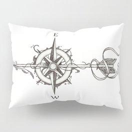 Compass with Arrow (Tattoo stule) Pillow Sham