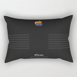 iPhone Vintage Macintosh Black Rectangular Pillow