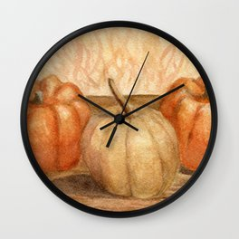 Mini Pumpkins I Wall Clock