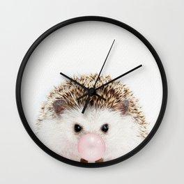 Bubble Gum Hedgehog Wall Clock