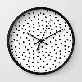 Topos locos negros Wall Clock