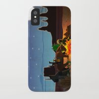 camping iPhone & iPod Cases featuring Camping by plopezjr