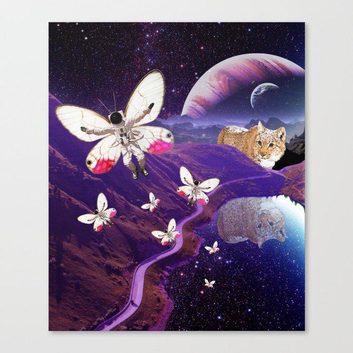 Astronaut-fly Canvas Print