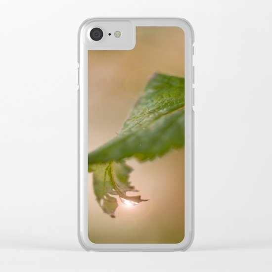 Shiny Drop n Forest Clear iPhone Case