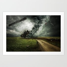 Cyclone-tornado Art Print