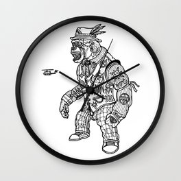 King Kong Black and White Wall Clock