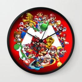Mix Mario Bross Evolution Wall Clock