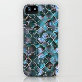 Quatrefoil Moroccan Pattern Labradorite iPhone Case