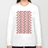 pigs Long Sleeve T-shirts featuring Pigs in Mud by Roxie Rose Design