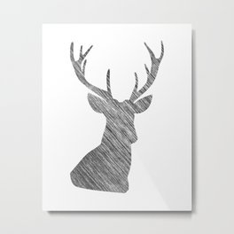 Grey Metal Print