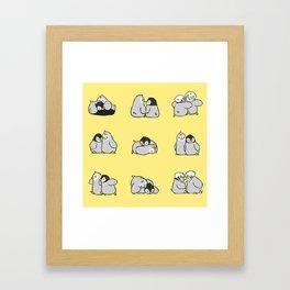 baby penguin print Framed Art Print