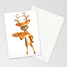 Pizza Deer Stationery Cards