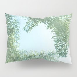 Nature photography tropical vibe vintage palm leaf II Pillow Sham