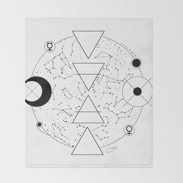 Celestial Alchemical Earth Throw Blanket
