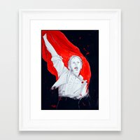 enjolras Framed Art Prints featuring Enjolras by 723blinks