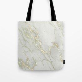 Marble Love Gold Metallic Tote Bag