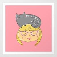 Friends Fur Life - Blonde Art Print