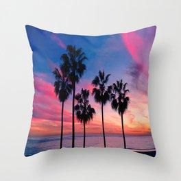 Palm Beach Sunset  Throw Pillow