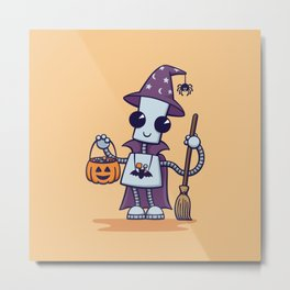Ned's Halloween Witch Metal Print