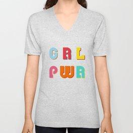 GRL PWR Girl Power Unisex V-Neck