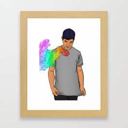 Rainbow Blitz Framed Art Print