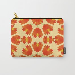 Colorful Floral Print Vector Style Carry-All Pouch