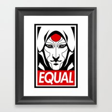 Equal Framed Art Print