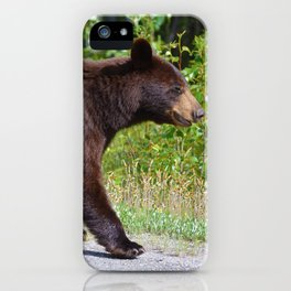 The happiest bear in Jasper National Park iPhone Case