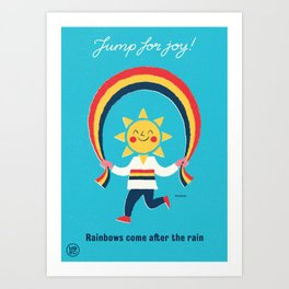 "Ministry of Optimistic Directives - ""Jump for Joy!"" Art Print"