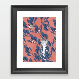 in the wild // repeat pattern Framed Art Print