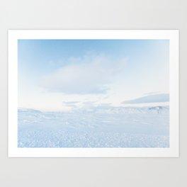 Snowy Ice Blue Iceland Landscape Art Print