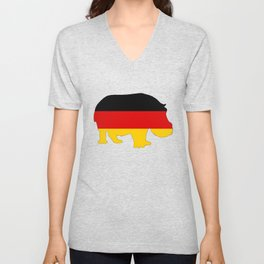 German Flag - Hippo Unisex V-Neck