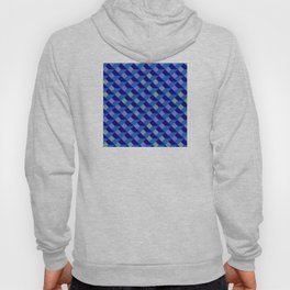 Geometric Marquetry With Variegated Marbled Colors Hoody