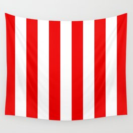 Holidaze Stripe Red White Vertical Wall Tapestry