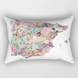 Spain map flowers composition Rectangular Pillow
