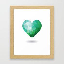 Teal Broken Heart Framed Art Print