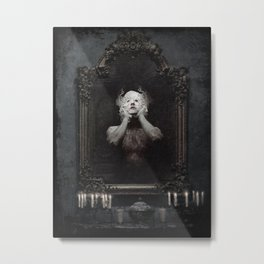 In the mirror Metal Print