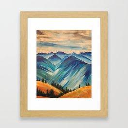 Hurricane Ridge, Olympic National Park Framed Art Print