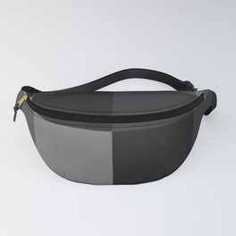Four Shades of Black Square Fanny Pack