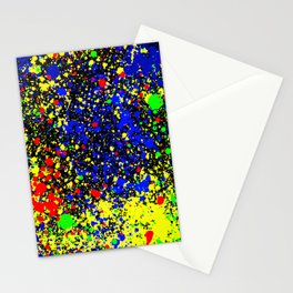 Multicolored splashes of paints Stationery Cards