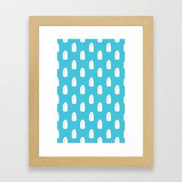 Milk Cartons (Aqua)  Framed Art Print
