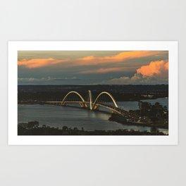 JK Bridge Art Print