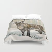 reindeer Duvet Covers featuring Reindeer by Meredith Mackworth-Praed