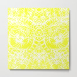Tie Dye Yellow Metal Print