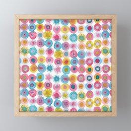Fiesta Watercolor Flowers Framed Mini Art Print
