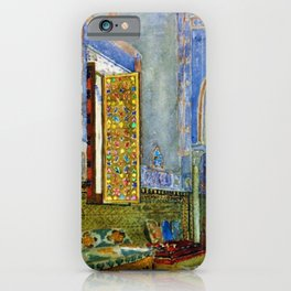 Near-Eastern Palace Interior Portrait by Louis Comfort Tiffany iPhone Case